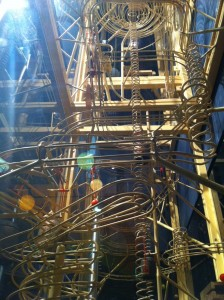 An audio-kinetic sculpture at the Clark Planetarium