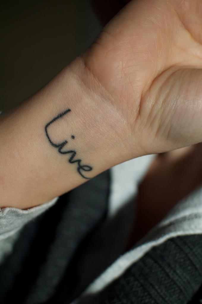 Live Wrist Tattoo