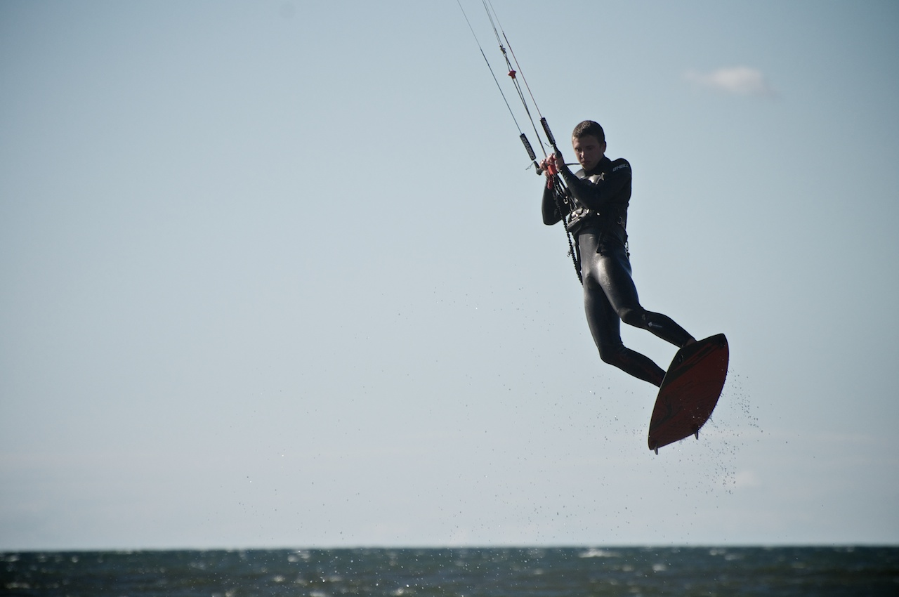 Kite Boarder Flying