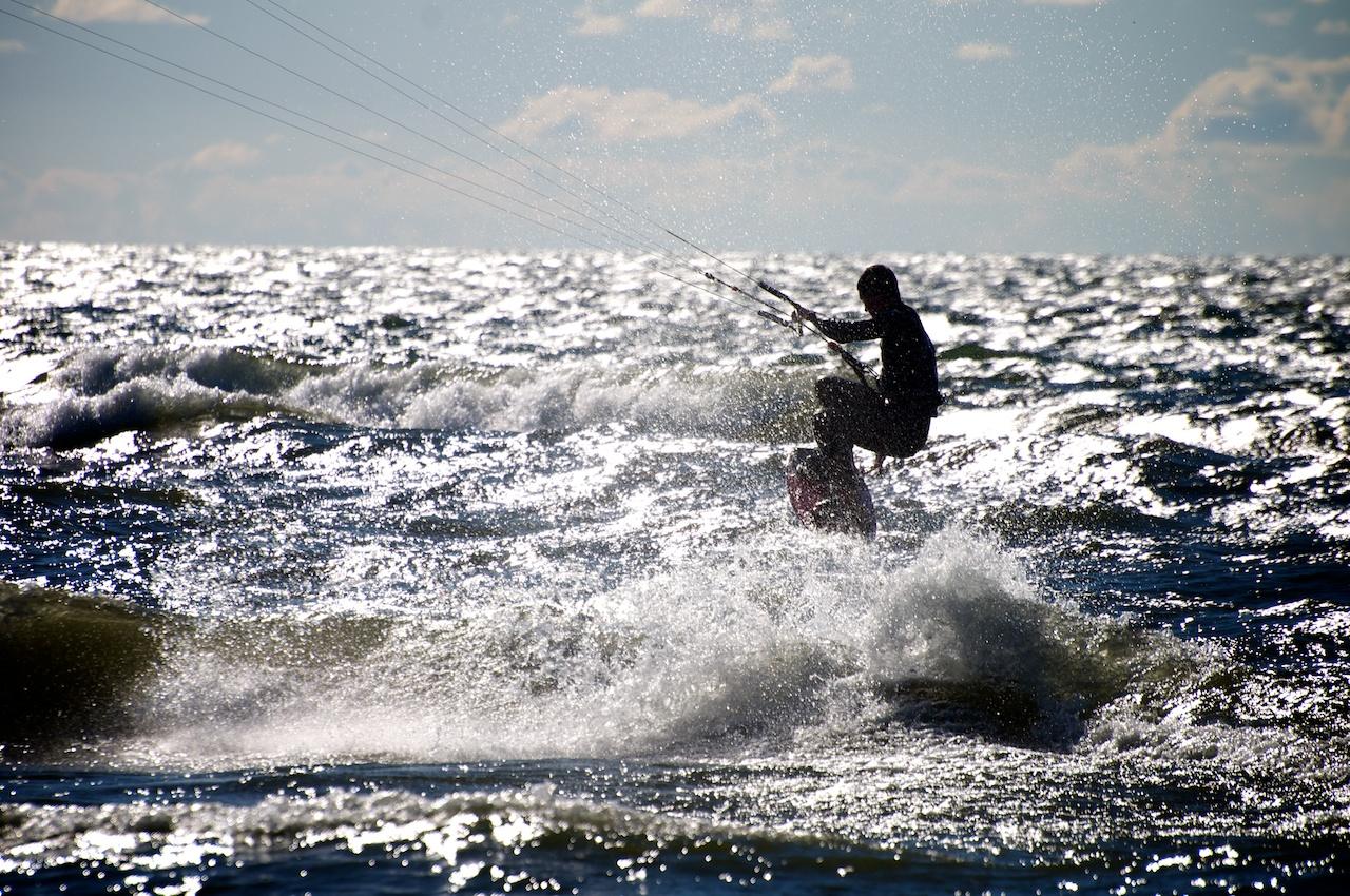 Kite Boarder Silhouette